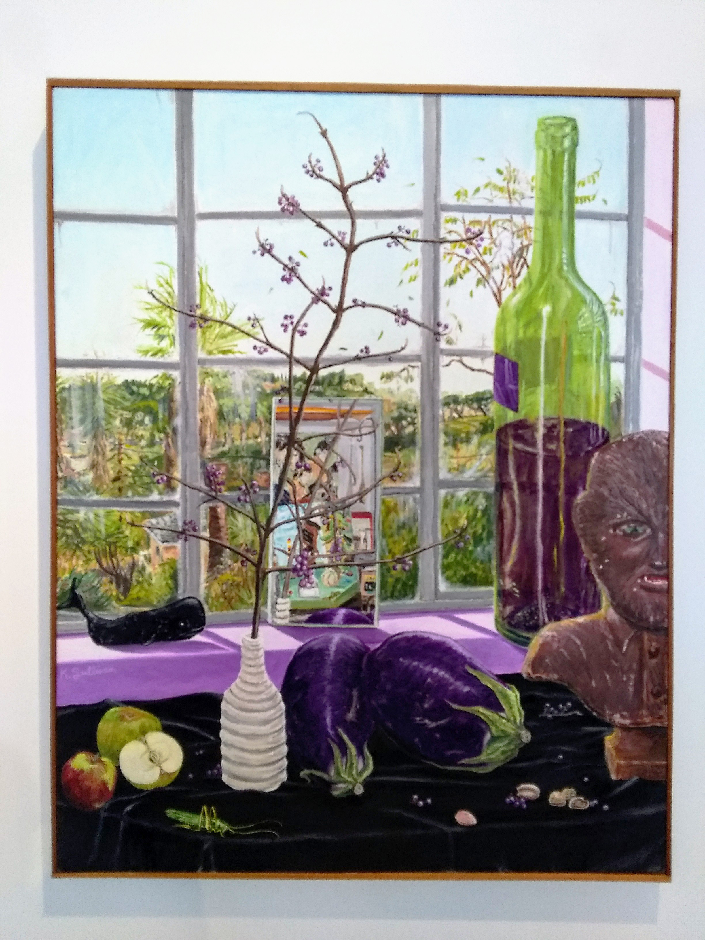 """Still Life with 21st Century Breezes, 2009, Oil on canvas, 22 x 28"""""""