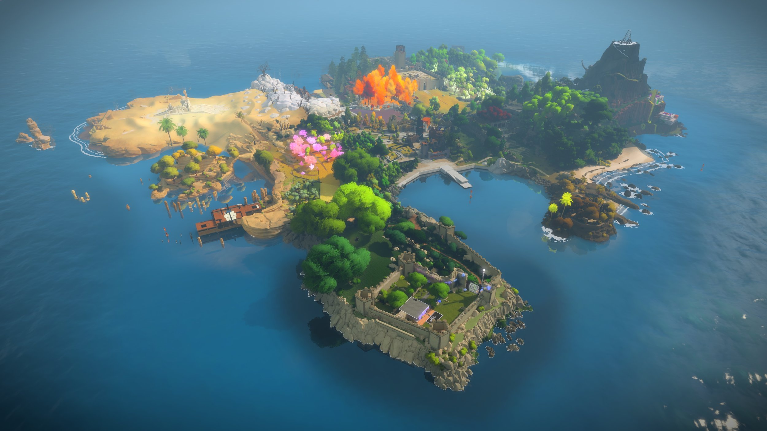 Figure 1: The Witness Island at the time of game publishing. (Thekla, 2014).