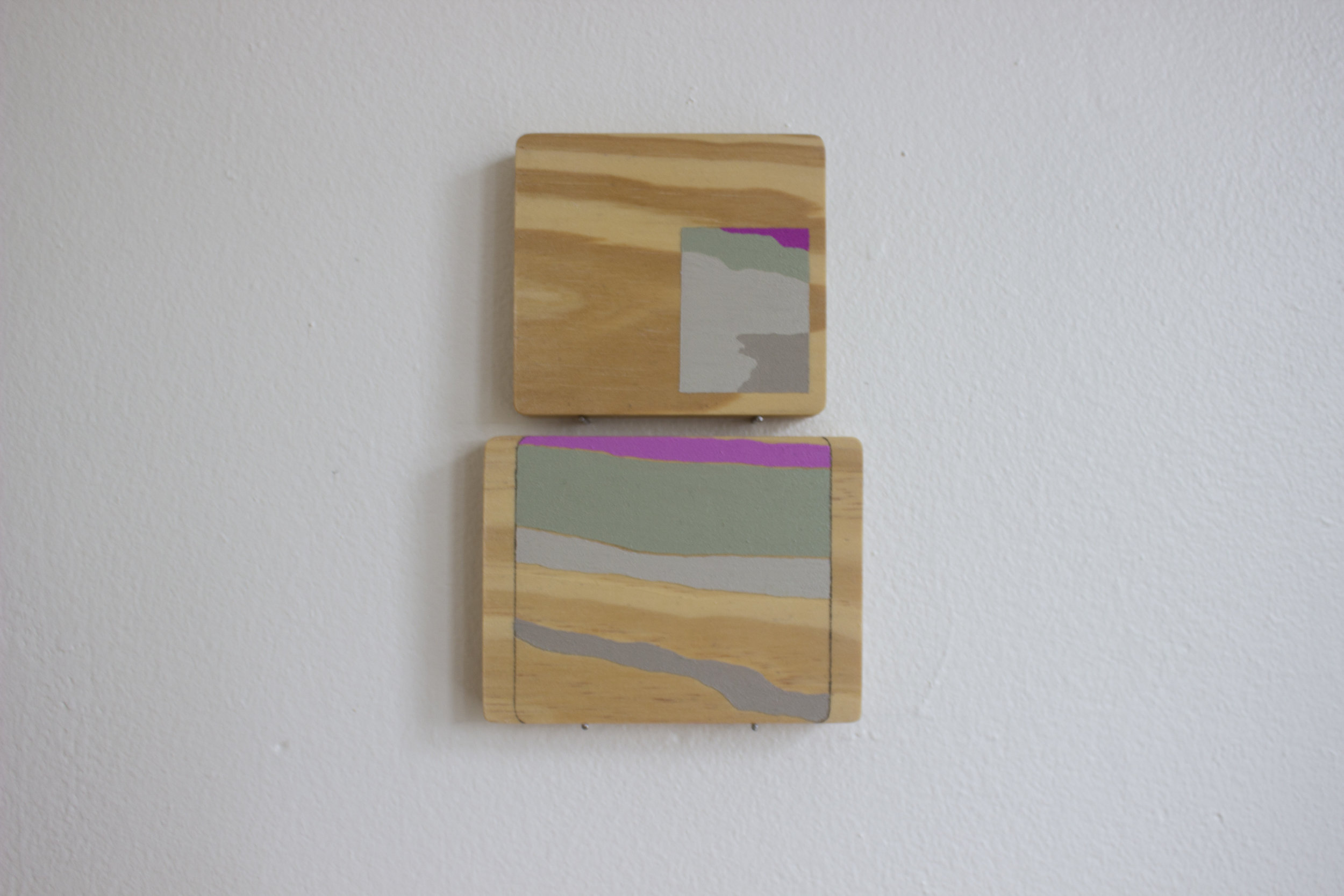 Tracie Hayes,  Grain-paint Translation I,  2018, Oil and graphite on wood