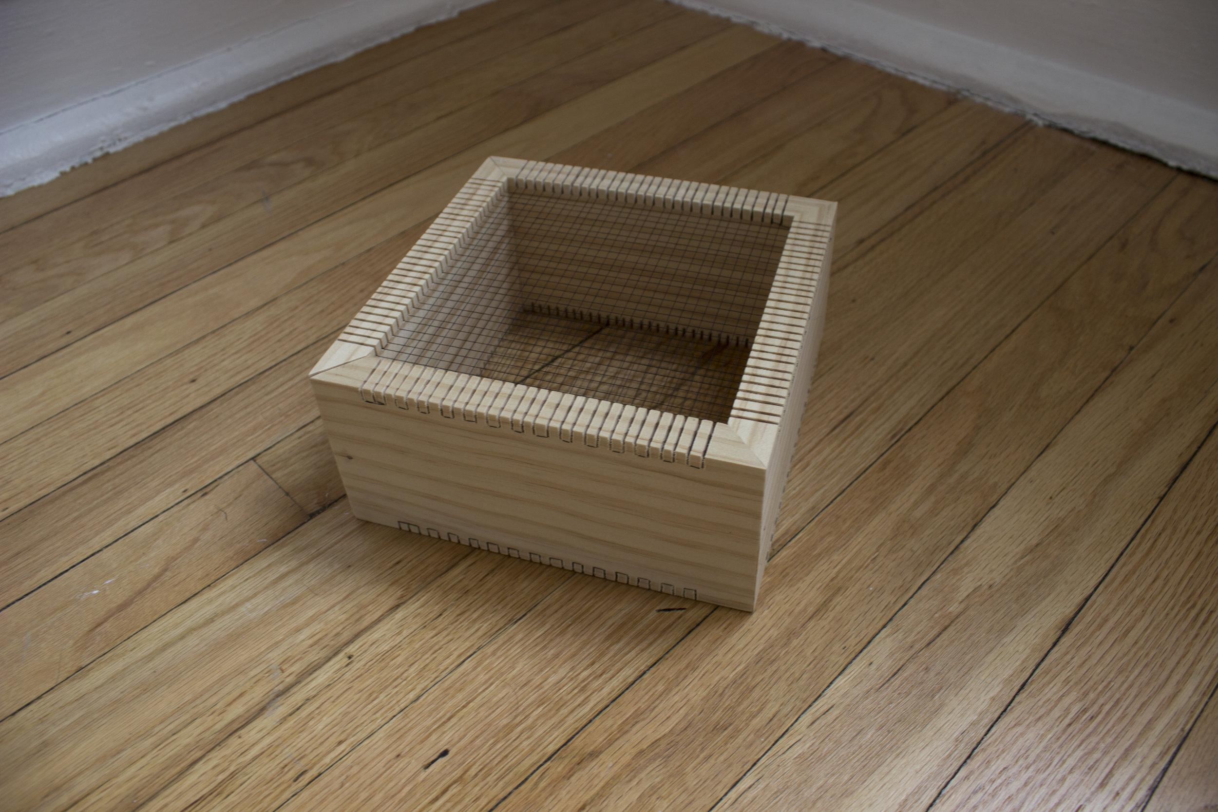 Tracie Hayes,  Two Quadrats, 2018,  Wood, thread