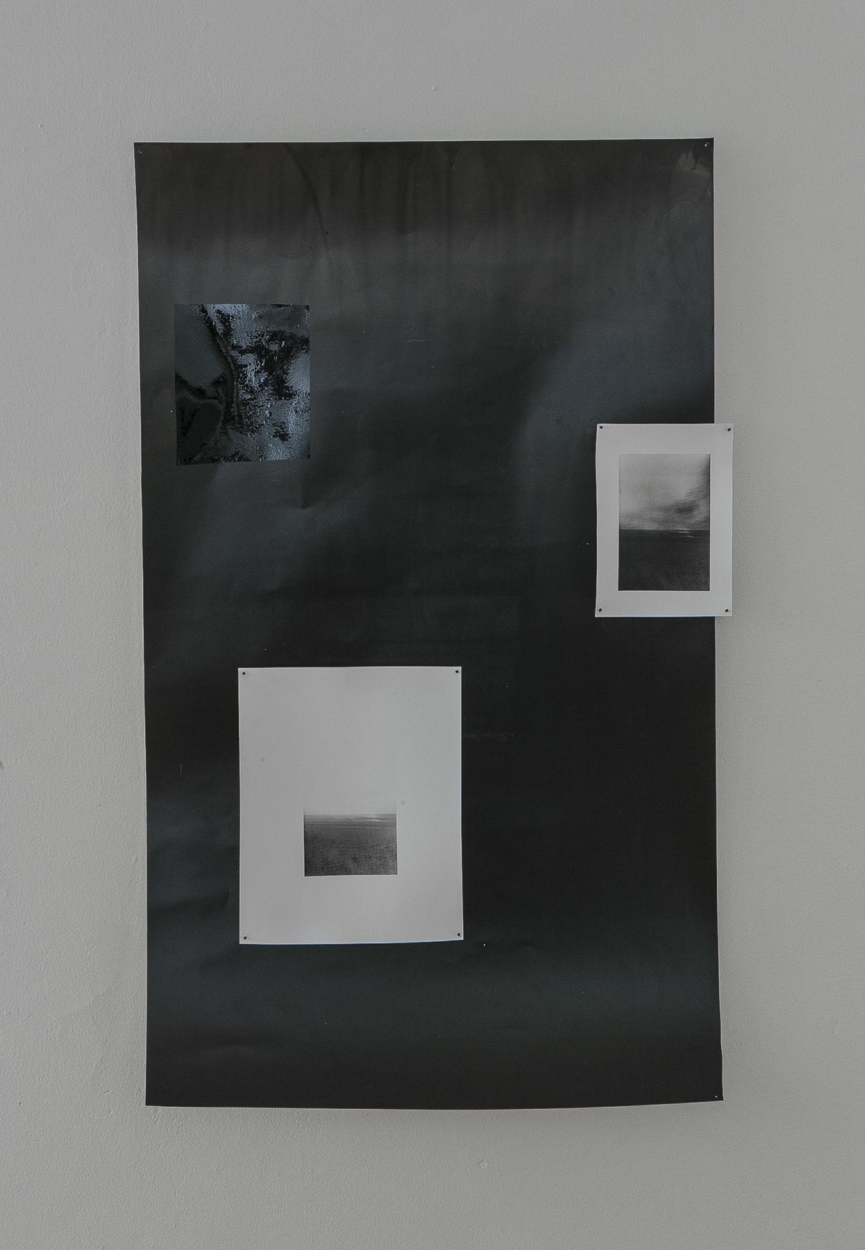 Kioto Aoki and Daniel Hojnacki,  Seascape/Lakefront,  Silver gelatin prints, window tinting film, 2019