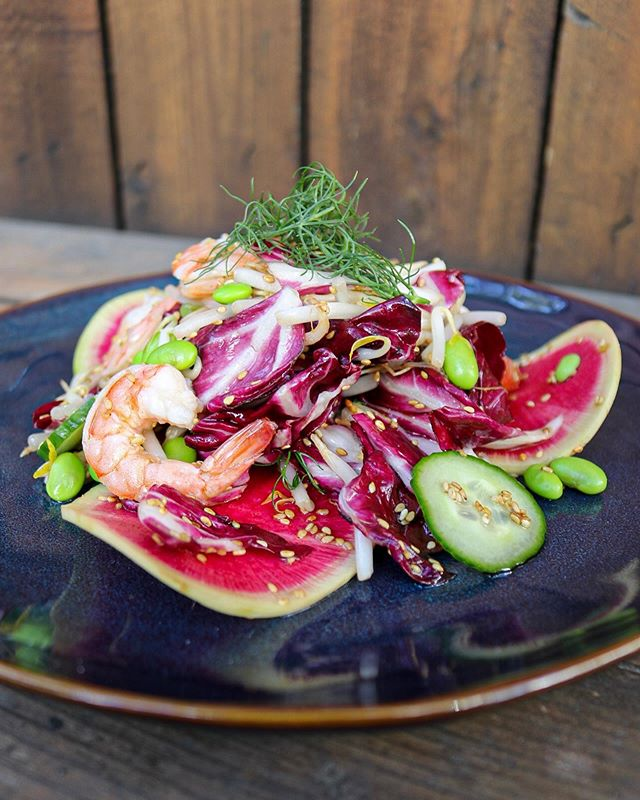 There is a new Chef Special by Chef David this week, I shrimp you not. Watermelon Radish| Cucumber| Bean Sprouts| Edamame| Fennel Frowns| Radicchio| Sesame Seed Dressing. AVAILABLE THURSDAY AND FRIDAY. Photos by @maryelda • • • • • •  #redlands #redlandsca #redlandsanyday #inlandempire #inlandempirefood #inlandempiremagazine #food #foods #foodphotography #foodie #foodstagram #buzzfeastfood #foodgasm #foodlover #foodography #foodoftheday #foodart #foodblogfeed #foodofinstagram #foodism #foodpic #foodcoma #eatrealfood