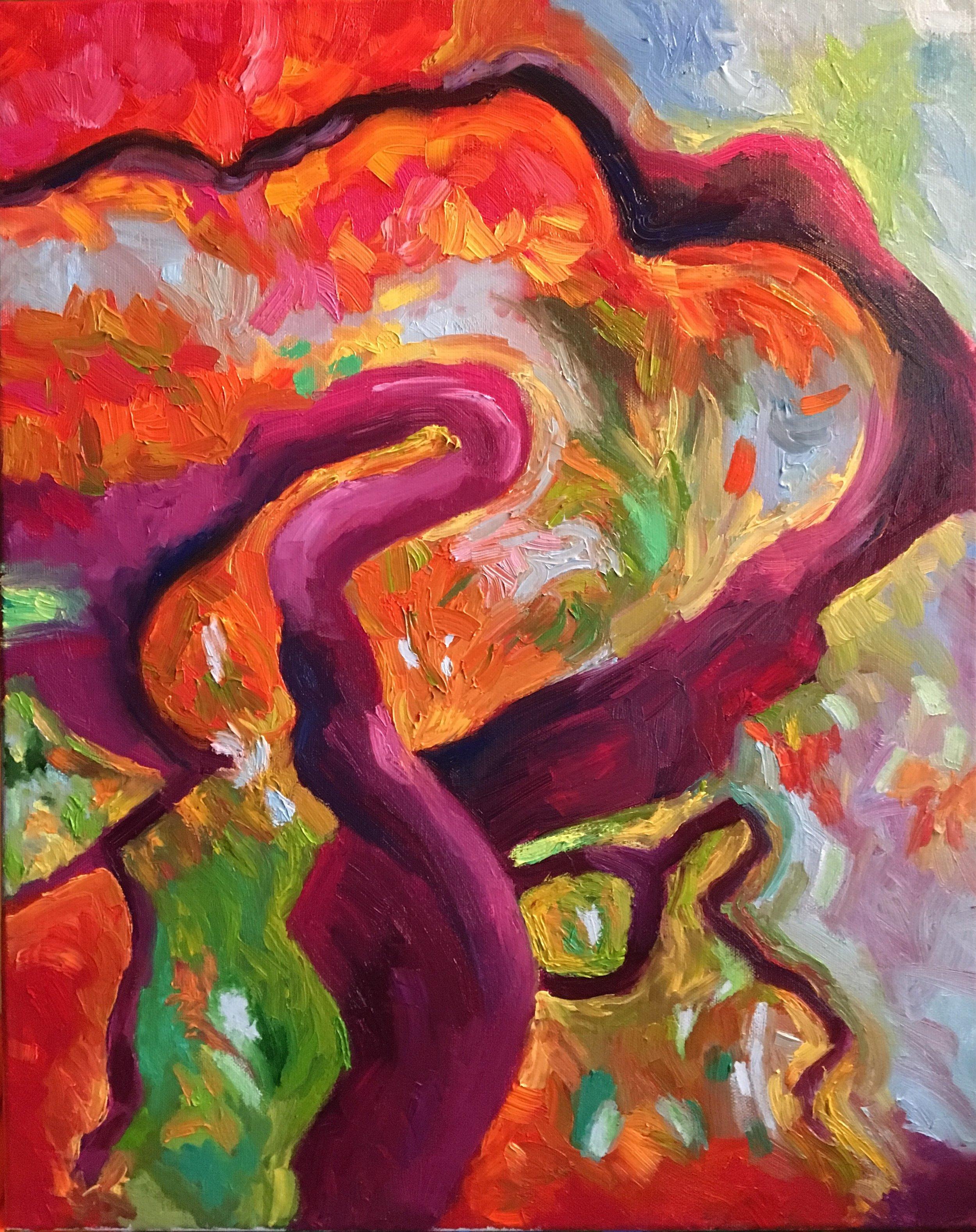 Heather M. Johnson, Blaze, Oil on canvas, $325.jpeg