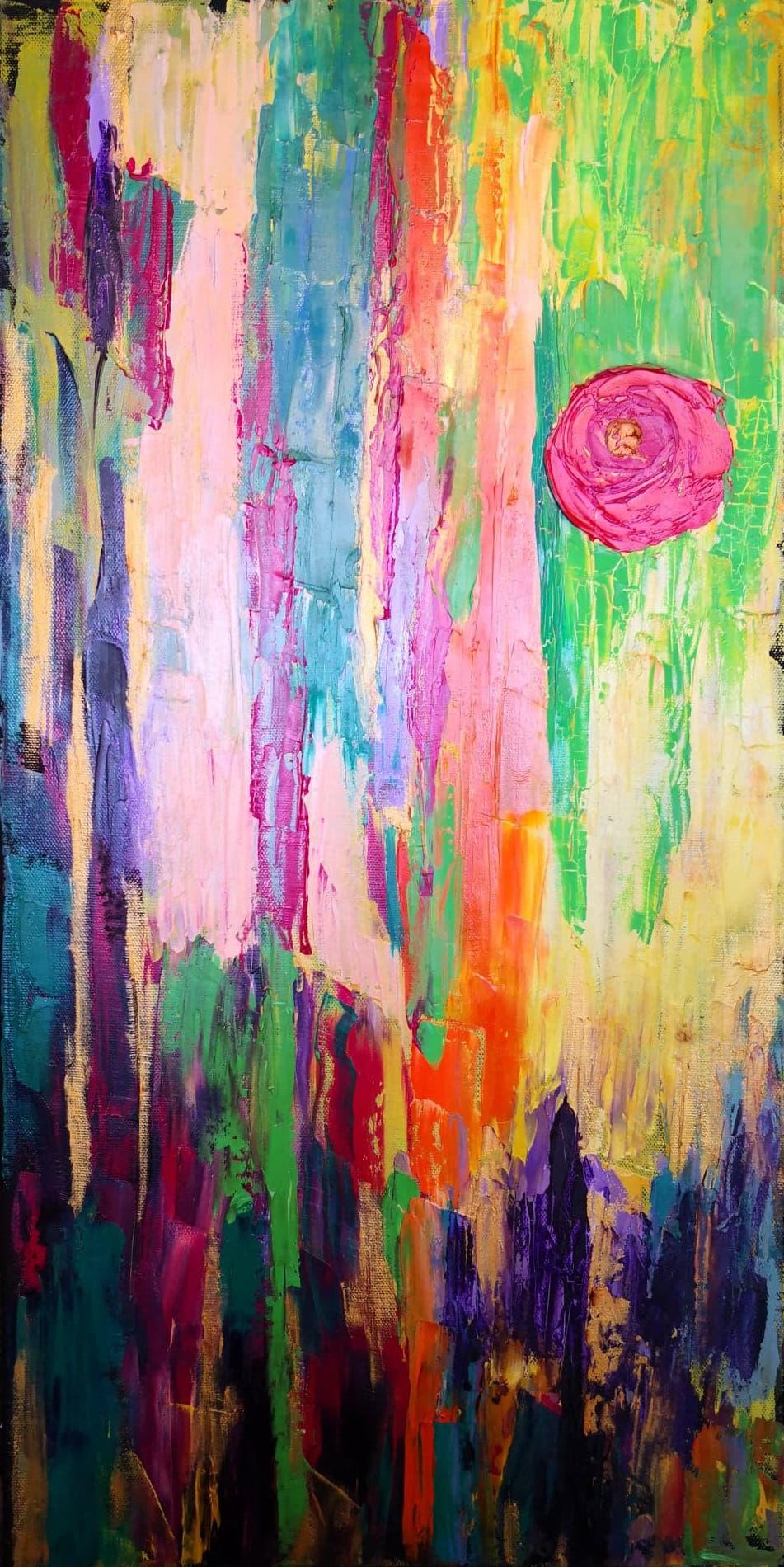 Heather M. Johnson, Aubade Part I (Triptych), Oil on canvas, 24 x 12 inches, $150:panel .jpg