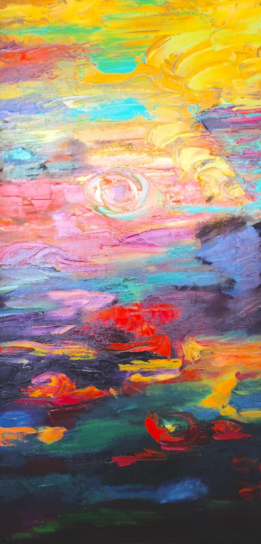 Heather M. Johnson, Aubade Part III (Triptych), Oil on canvas, 24 x 12 inches, $150:panel .jpg