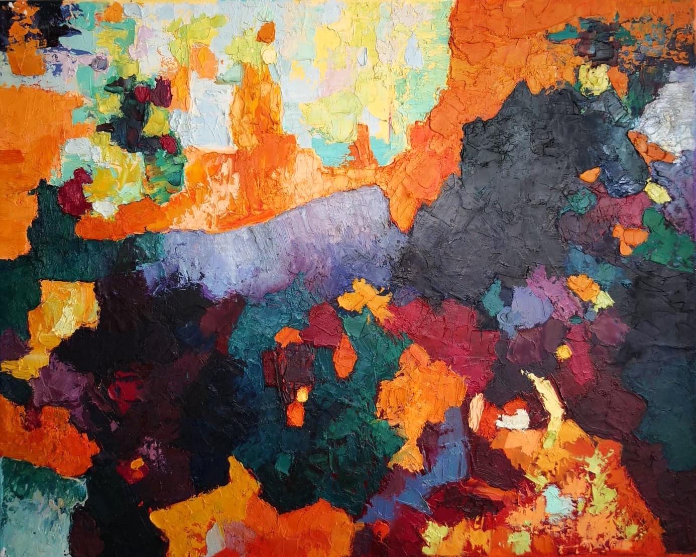 Heather M. Johnson, Bridge, Oil on canvas, 16x20inches, $325.jpg