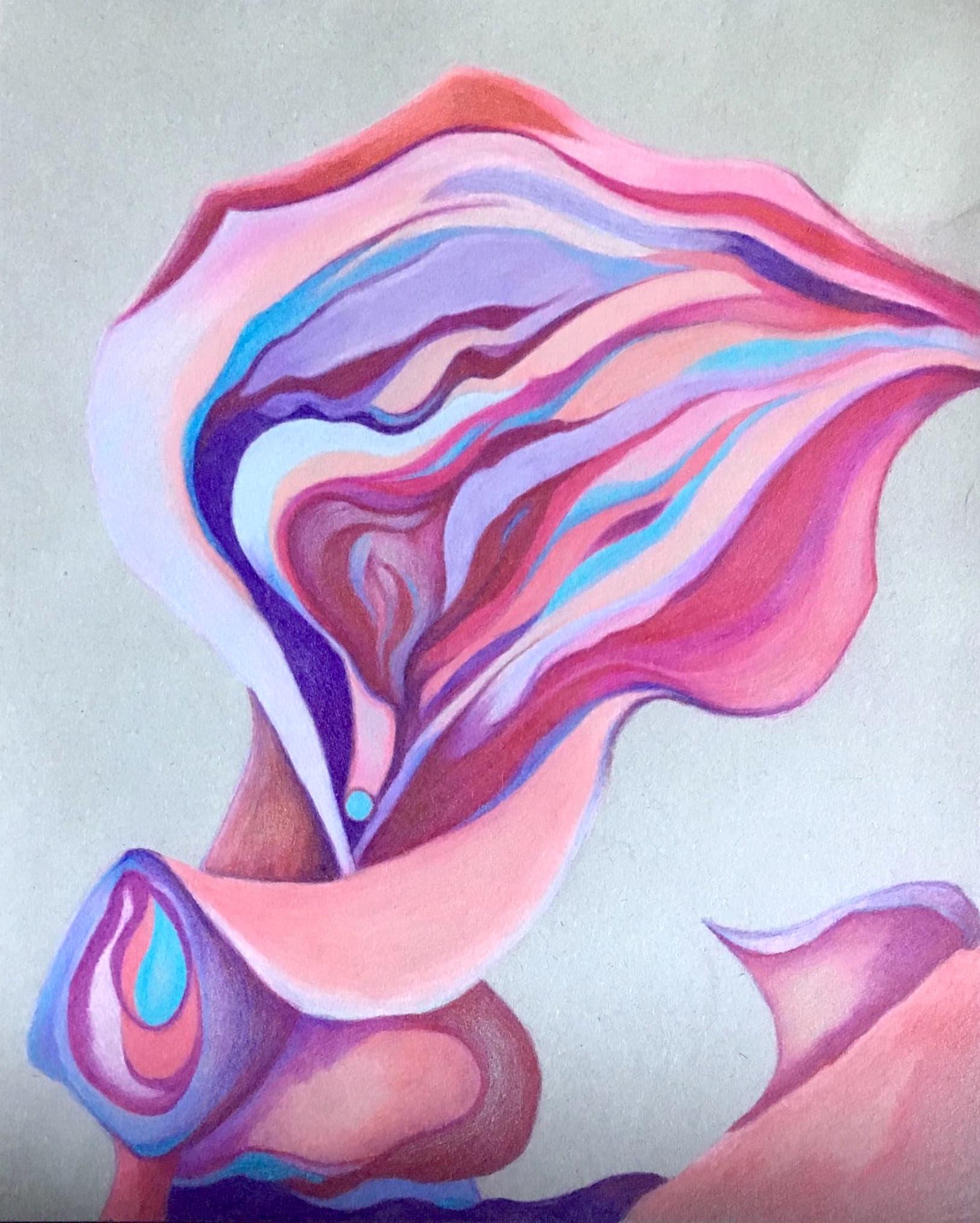 Heather M. Johnson, Calla #2, 2019, Colored pencil on paper, 12 x 9 inches (30.5 x 23 cm), $175 .jpg