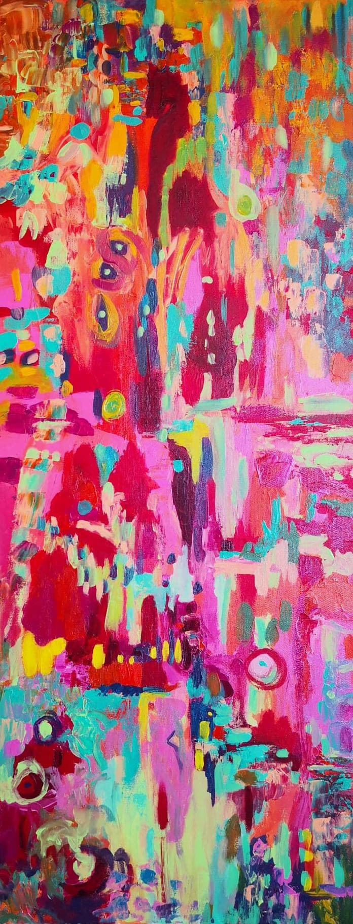 Heather M. Johnson, Checkmate, Acrylic on canvas, 40 x 16 inches, $450.jpg