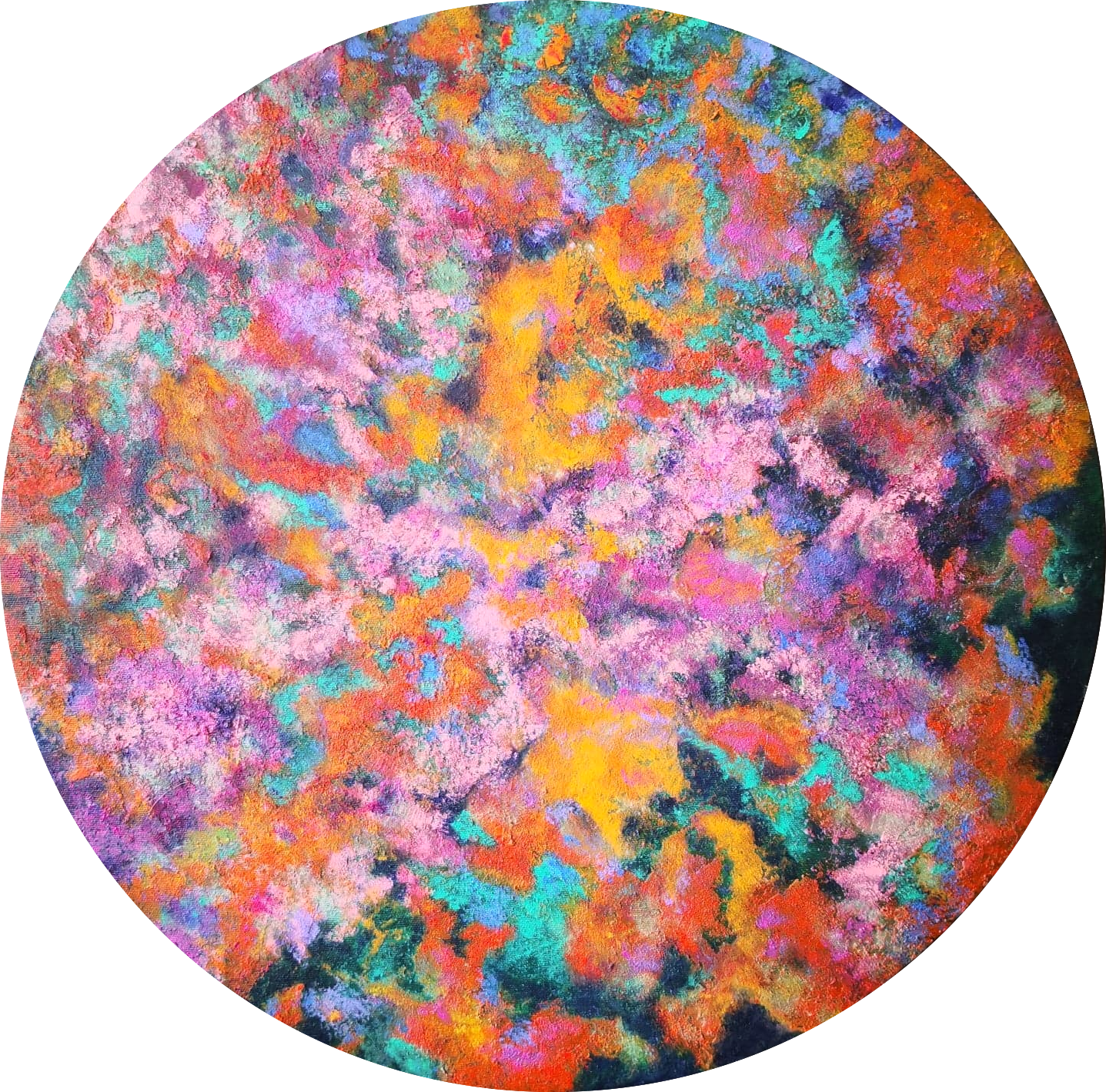 Heather M. Johnson, Succulent, Acrylic on canvas, 20 inches Diameter, $300.png