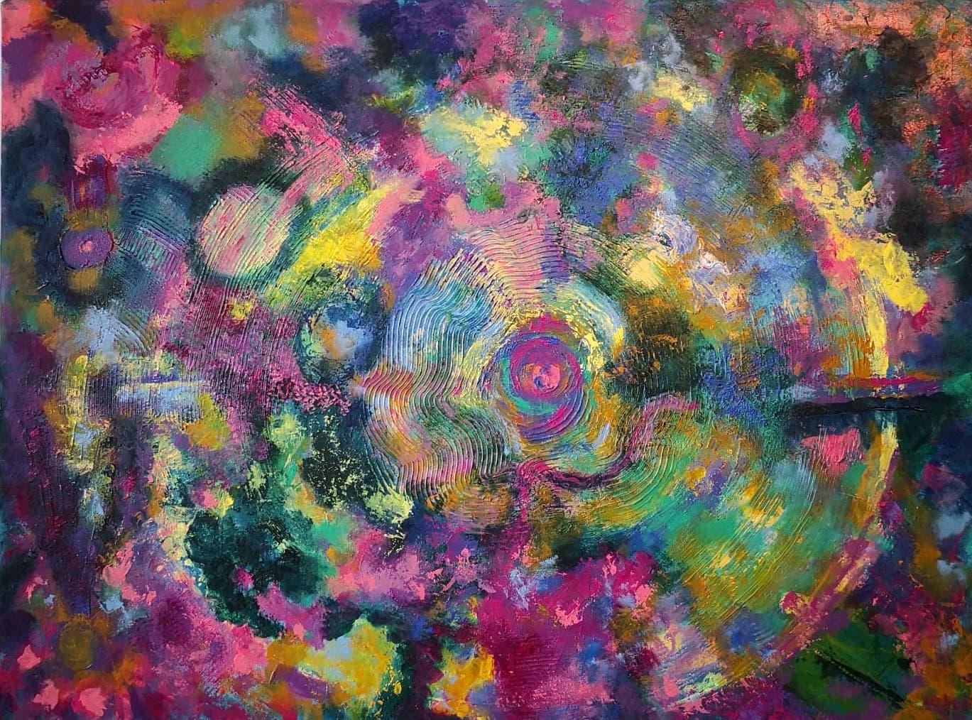 Heather M. Johnson, Vortex, Acrylic on canvas, 18 x 24 inches, $325.jpg