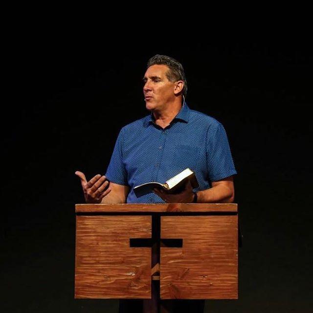 Bret preaching