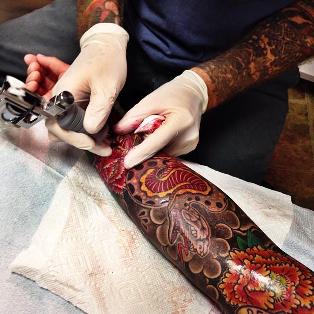japanese snake tattoo sleeve