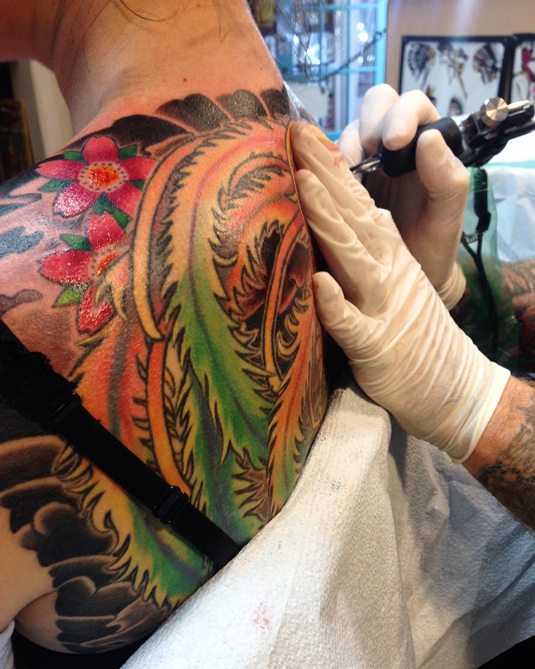 phoenix feathers tattoo