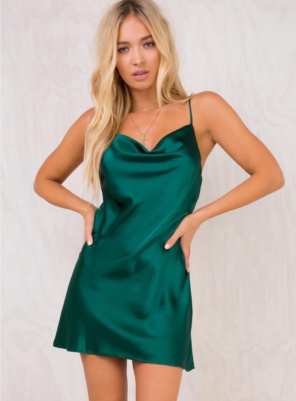 BETTA VANORE MINI DRESS FOREST GREEN.jpg