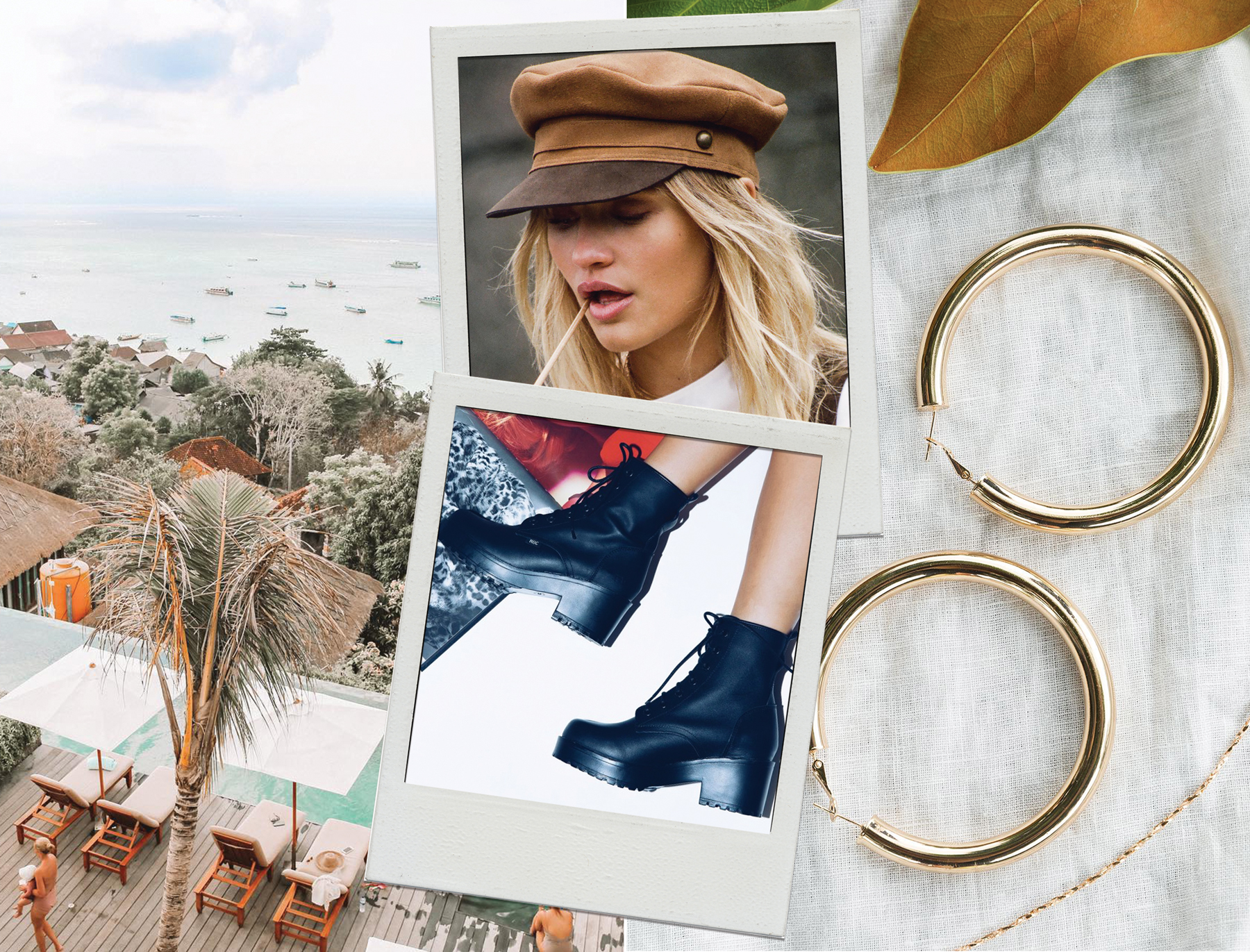 LACK OF COLOR LOLA CAP  //  ROC BOOTS AUSTRALIA CHISEL BOOTS BLACK  //  JOJO STATEMENT HOOPS