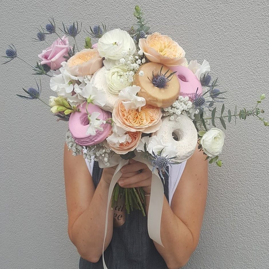 flowers and donut.JPG