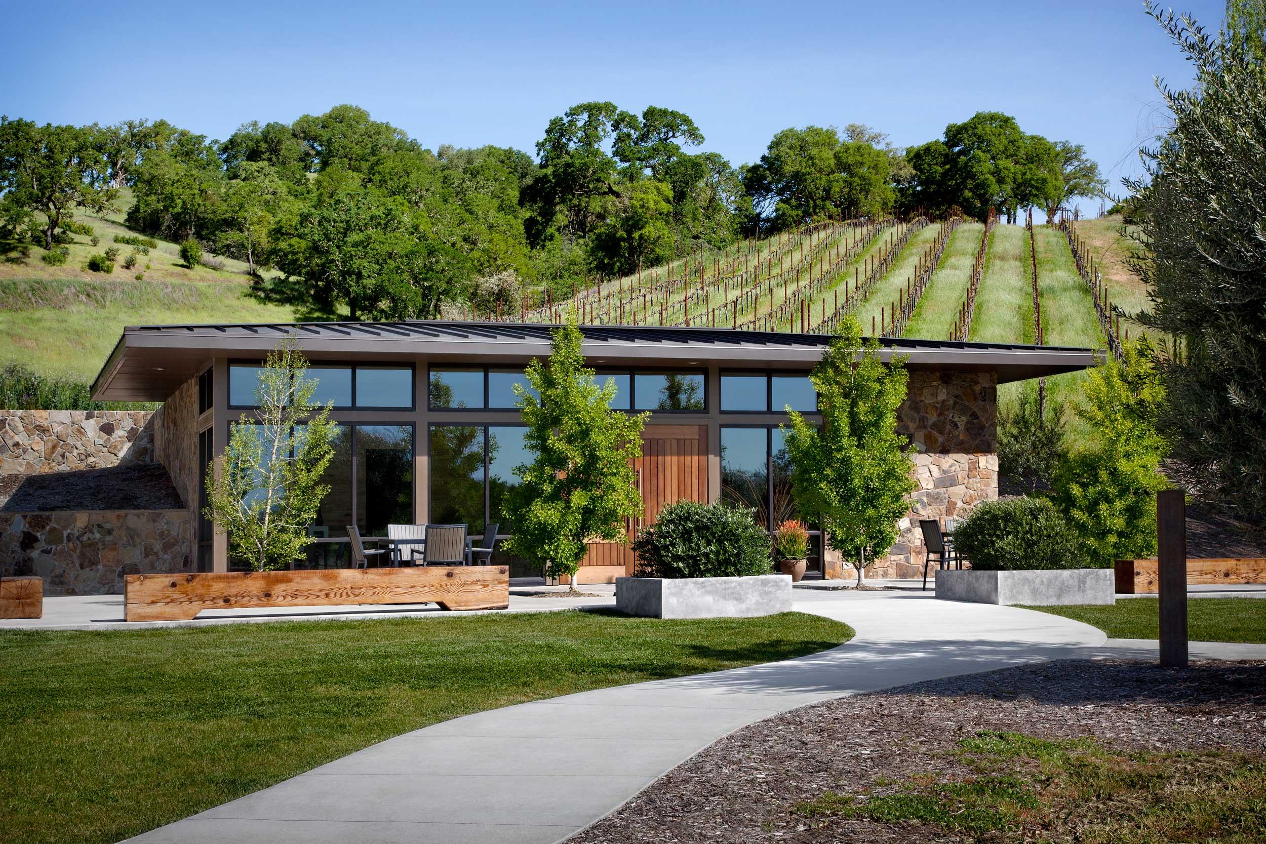 Tasting Room and vineyards beyond