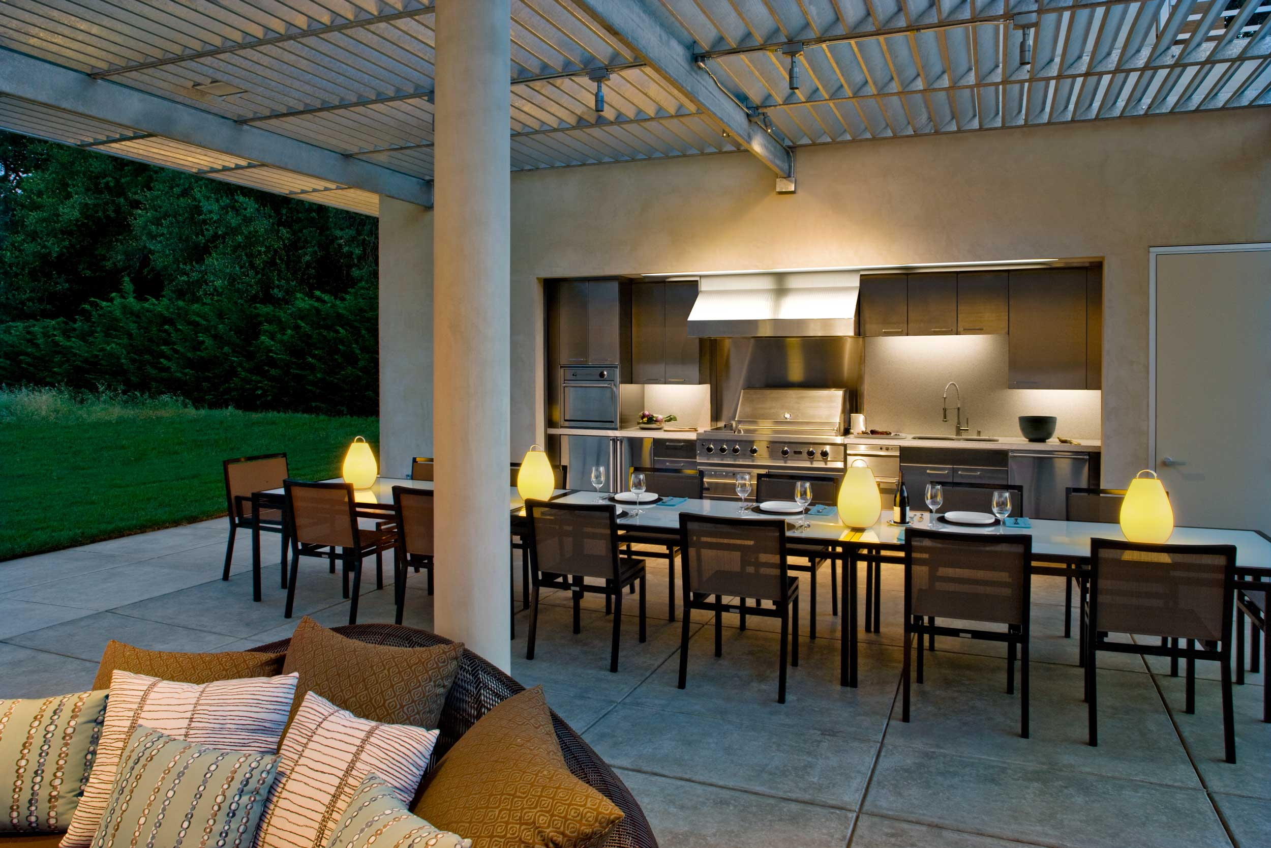 View of Outdoor Kitchen on Patio