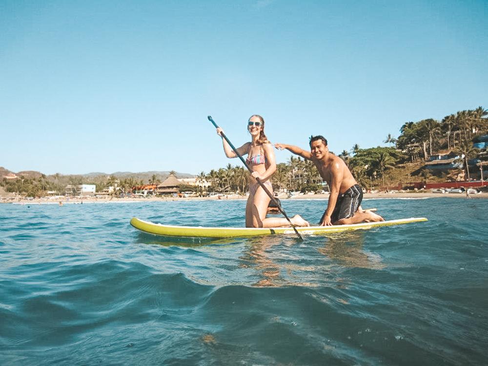 Paddle boarding in Sayulia