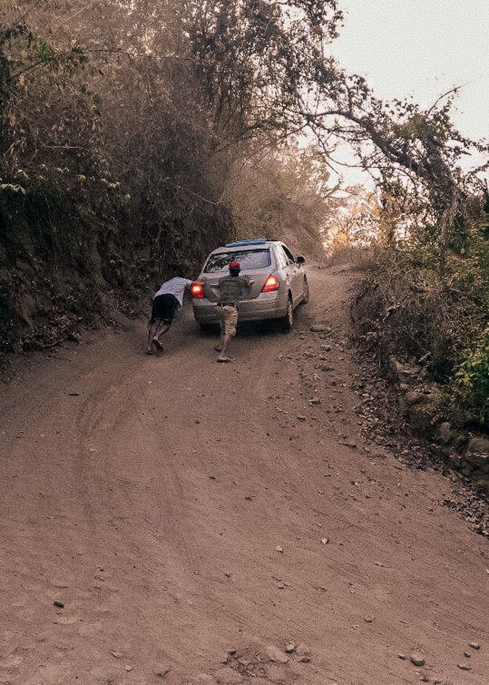 Driving in Sayulita Mexico