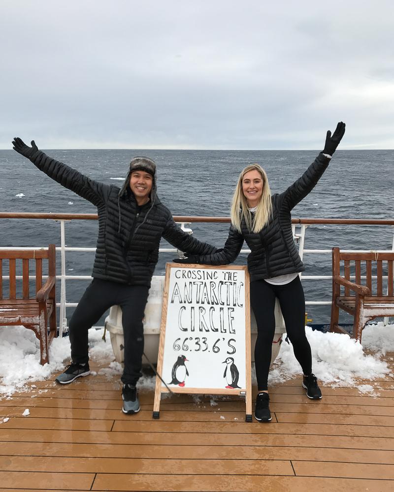 Crossing Antarctic Circle