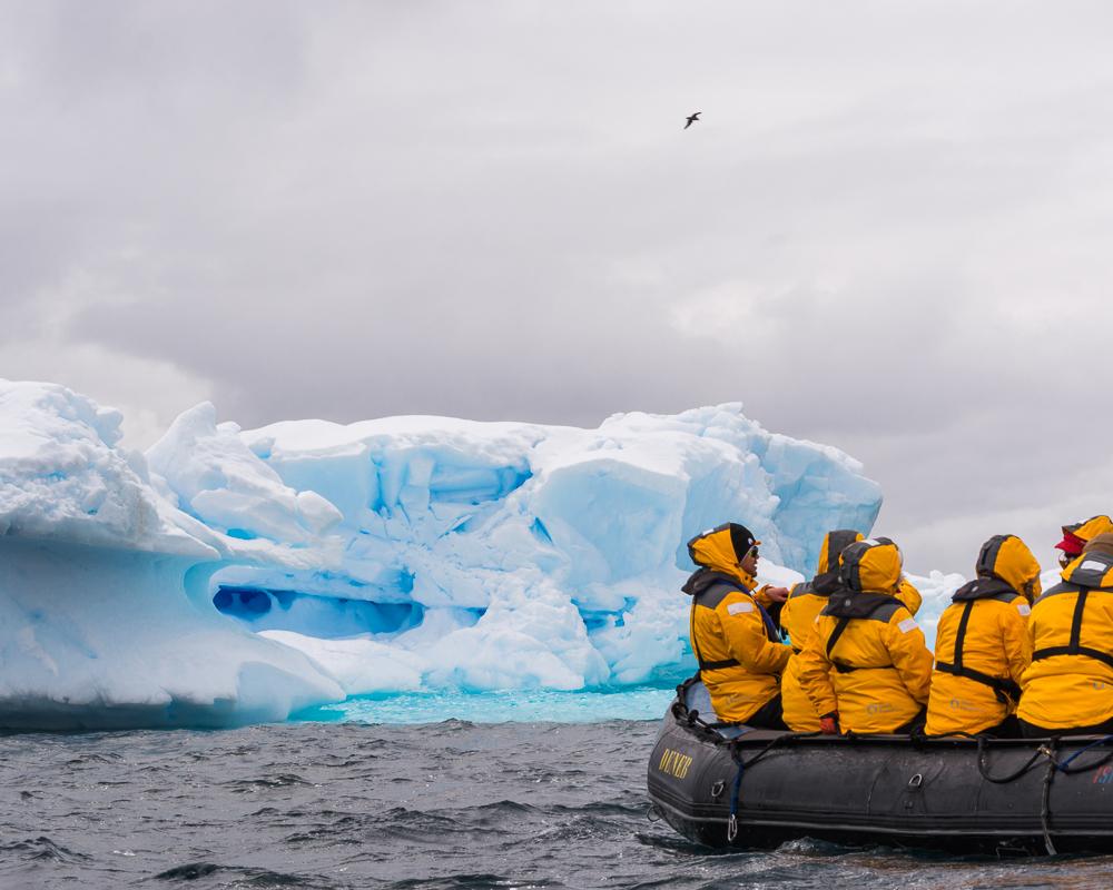 Boating in Antarctica