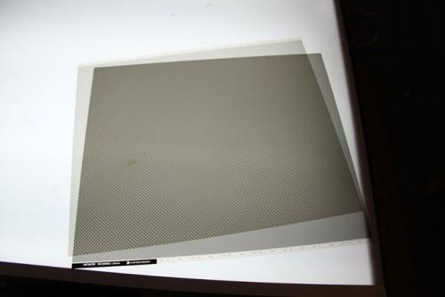 original halftone screens demonstrating the moiré effect
