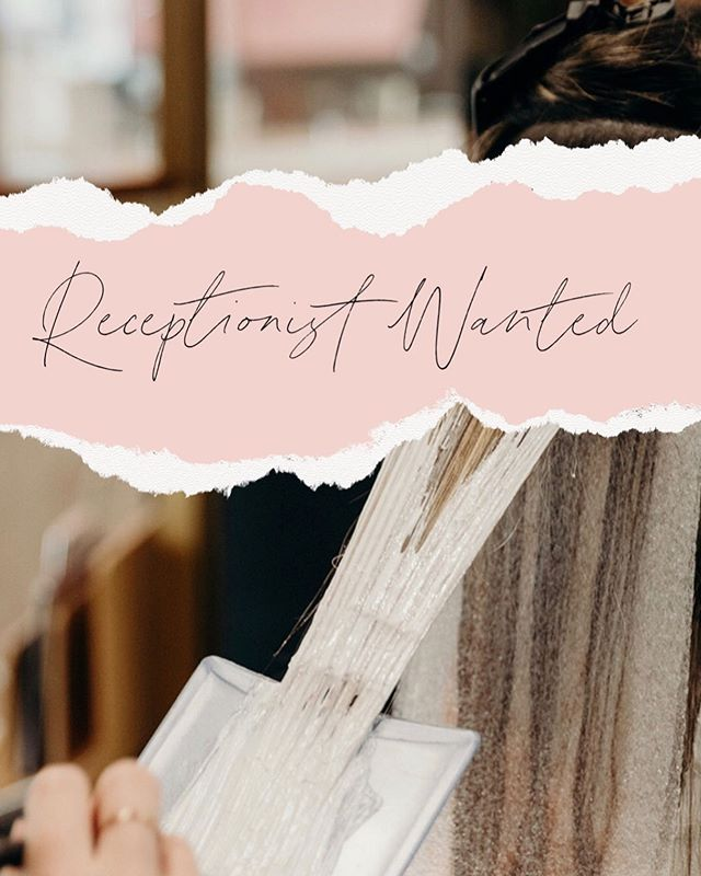 ✨ Receptionist Wanted ✨ — Hrs would be: • Monday (flexible) • Tuesday 1-close • Friday 2-close • Saturday 8-4 — If you are anyone you know might be interested let us know!!