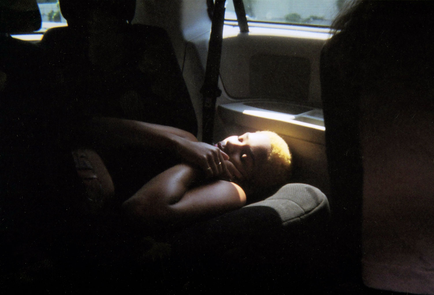 Angel in the backseat of the NYPIRG van.