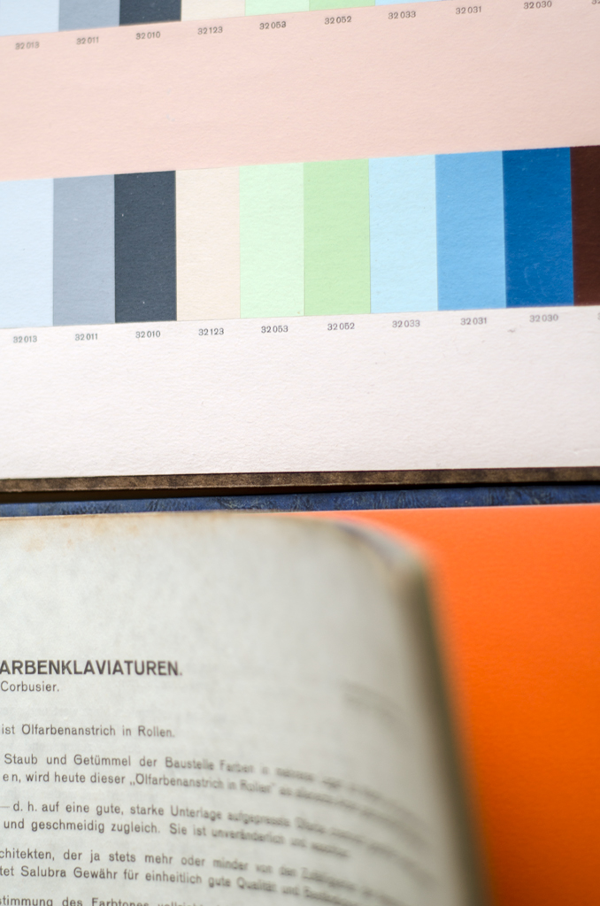 Le Corbusier's color theory sample book.