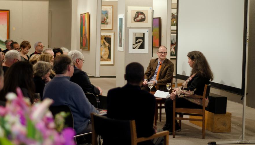 Specialist Nigel Freeman hosting a screening of  Rosenwald  with the film's Director, Aviva Kempner.