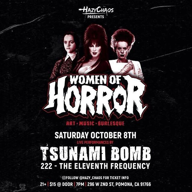 """#FBF Our very 1st """"Women of Horror """" Event that took place in Pomona back in 2016! 🖤 We've come a long way with the help of all our friends & our new business partners; we wouldn't be here without you all & we still have a long way to go! 😉  #WomenOfHorror2016 #WomenOfHorrorEvent #WomenOfHorror #Throwback #tsunamibomb #222 #theeleventhfrequency #horror #hazychaos #pomona"""