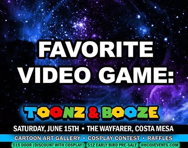 What's YOUR favorite video game?! @Growvision :Borderlands2 & Turbo esprit on the ZX Spectrum  @_Hazychaos_ :Mortal Kombat & Sonic The Hedgehog on Sega  Tickets for @ToonzAndBooze Available At HCGVEVENTS.COM