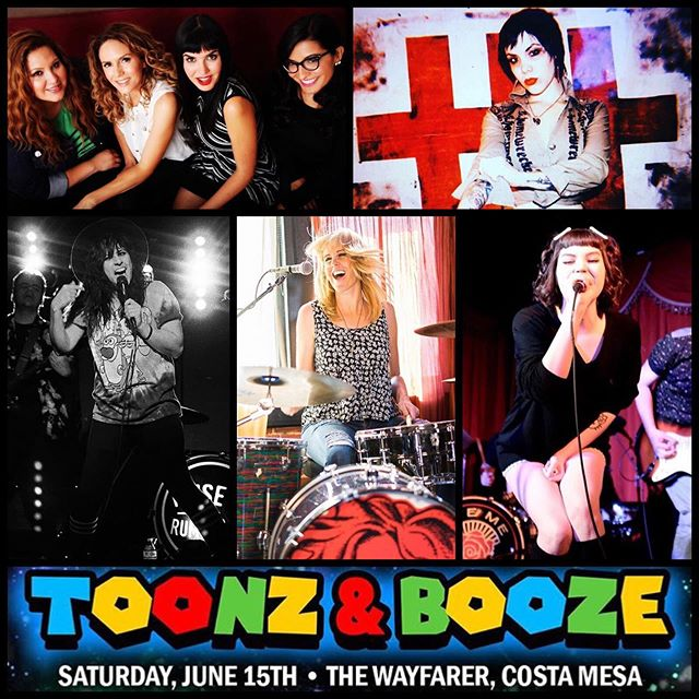 To honor #WCW we would like to give a shout out to all of the beautiful, badass & talented women who will be performing at this year's TOONZ & BOOZE cartoon festival this Saturday!  #WCW shout out to: @gobettygoofficial (performing @ 11pm) @this.is.tahlena of @bitemebambi (performing @ 9:50pm) @cynelectric of @noiseofrumors (performing @ 9pm) @thesuzimoon of @turbulenthearts (performing @ 8:15pm) & @rikkistyxx of @thetwotens (performing @ 7:30pm)  TICKETS AVAILABLE @ HCGVEVENTS.COM