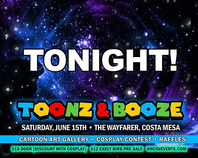 The day has finally come!  TOONZ & BOOZE IS TONIGHT!!! We're so excited for everything we have in store for you! Don't miss out!  Tickets are still available online @HCGVEVENTS.COM & will also be available @ the door!