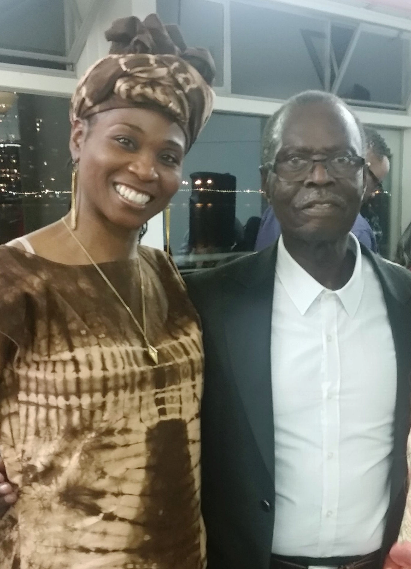 Farcia with her teacher and advisor Dr. Zaak Diouf (Director of Diamano Coura West African Dance Company).