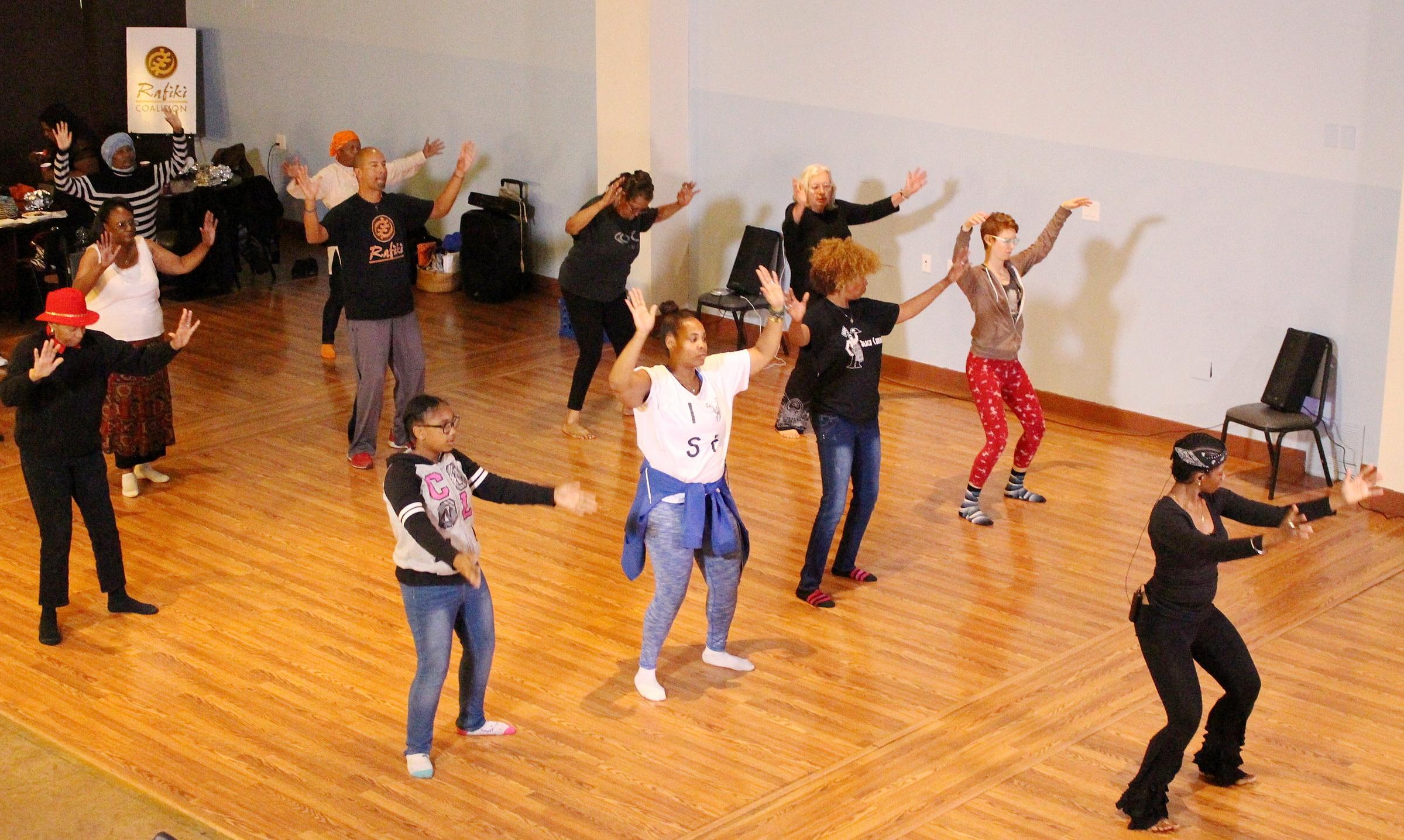 Farcia's Nia class at Rafiki Coalition in San Francisco, CA