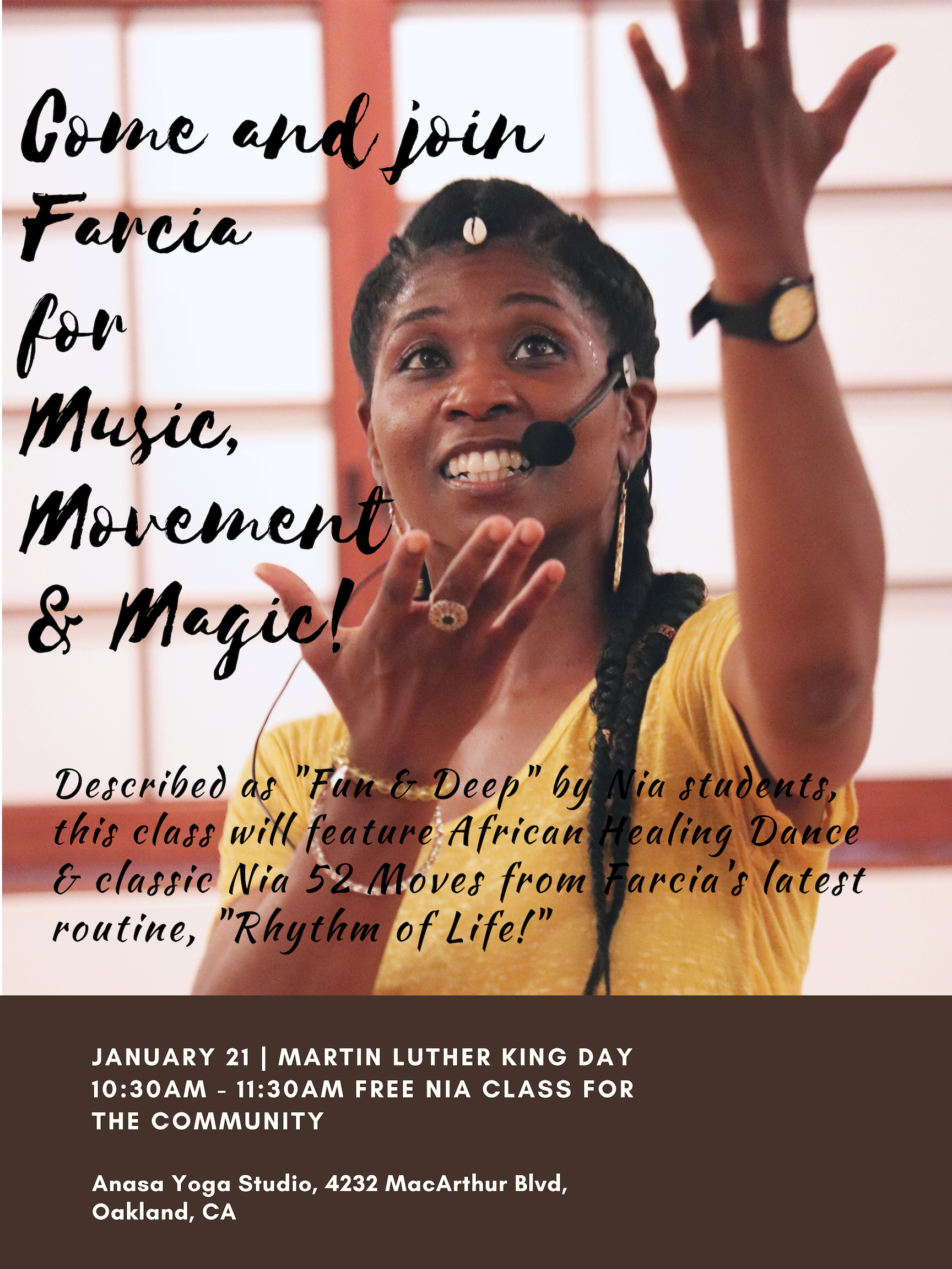 Farcia's MLK Jr. Day - Nia Class