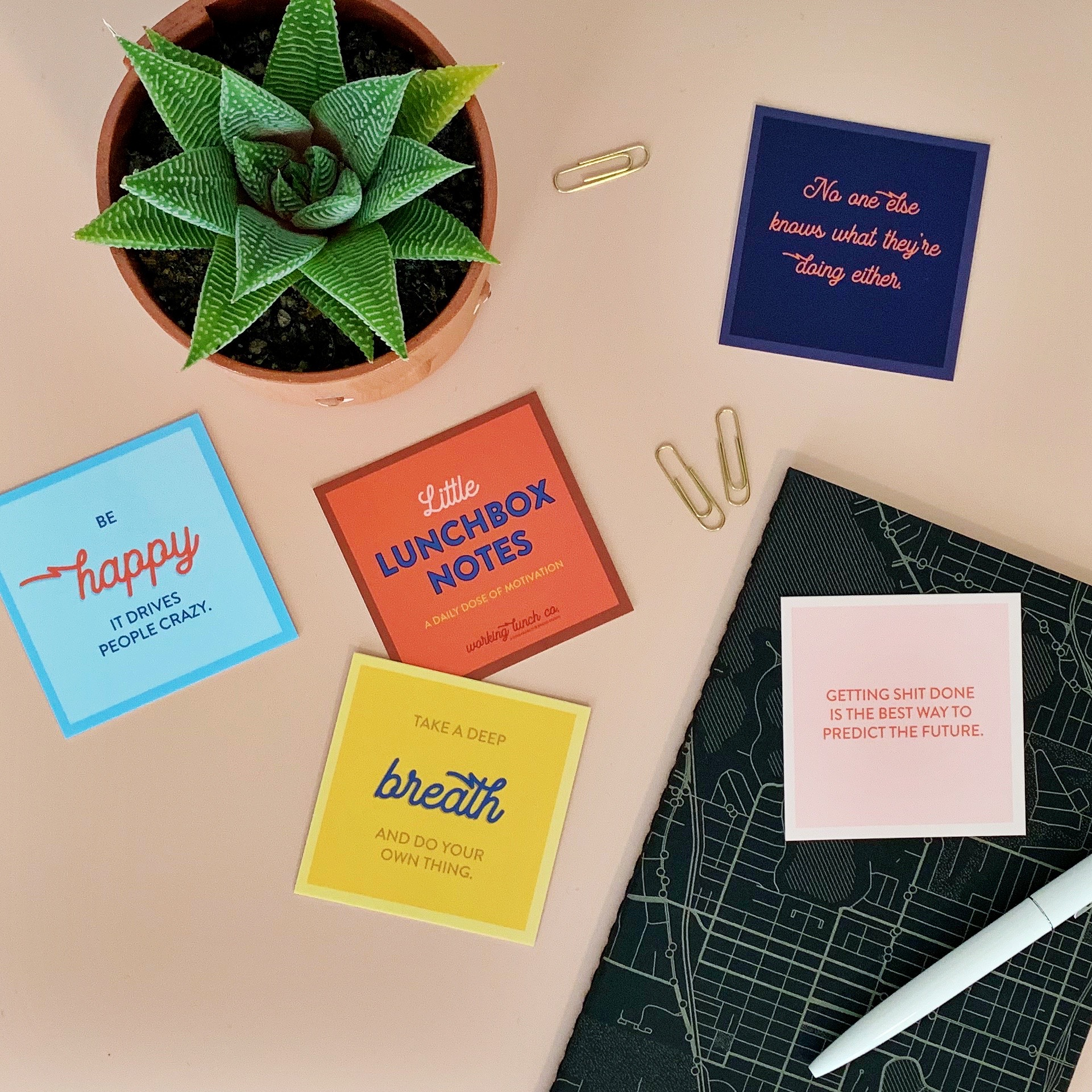 New! Little Lunchbox Notes - Calling all go-getters, boss babes, and weekend warriors: get your #mondaymotivation IRL! Our Little Lunchbox Notes feature 24 uniquely designed inspirational messages to keep, share, or gift.