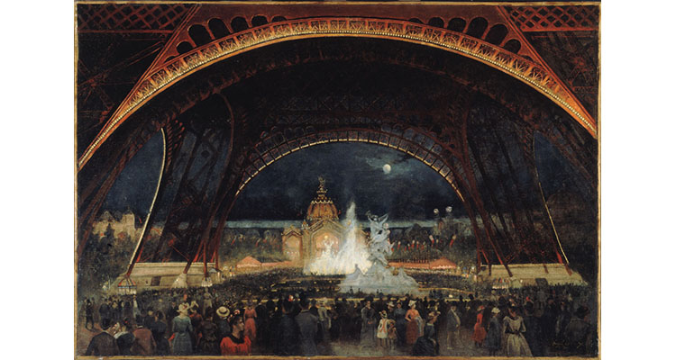 Georges Roux (1855–1929). Night Party at the Universal Exhibition in 1889, under the Eiffel Tower, 1889. Paris, Musée Carnavalet. © Musée Carnavalet / Roger-Viollet