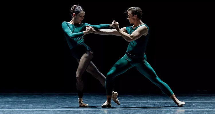 Eva Burton and Peter Franc in William Forsythe's In the Middle, Somewhat Elevated; Photo by Yi Yin