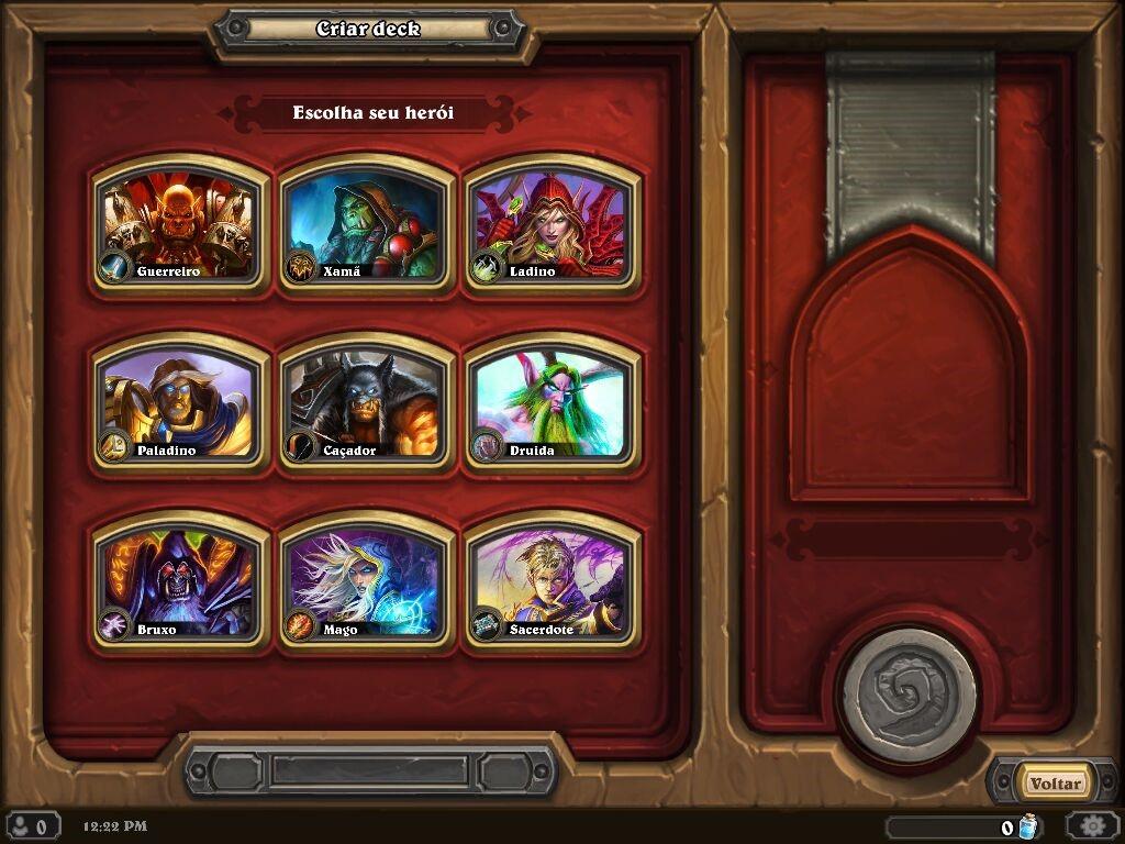 As nove classes do jogo. Algumas classes possuem também uma variação que pode ser comprada, mudando apenas esteticamente o jogo.