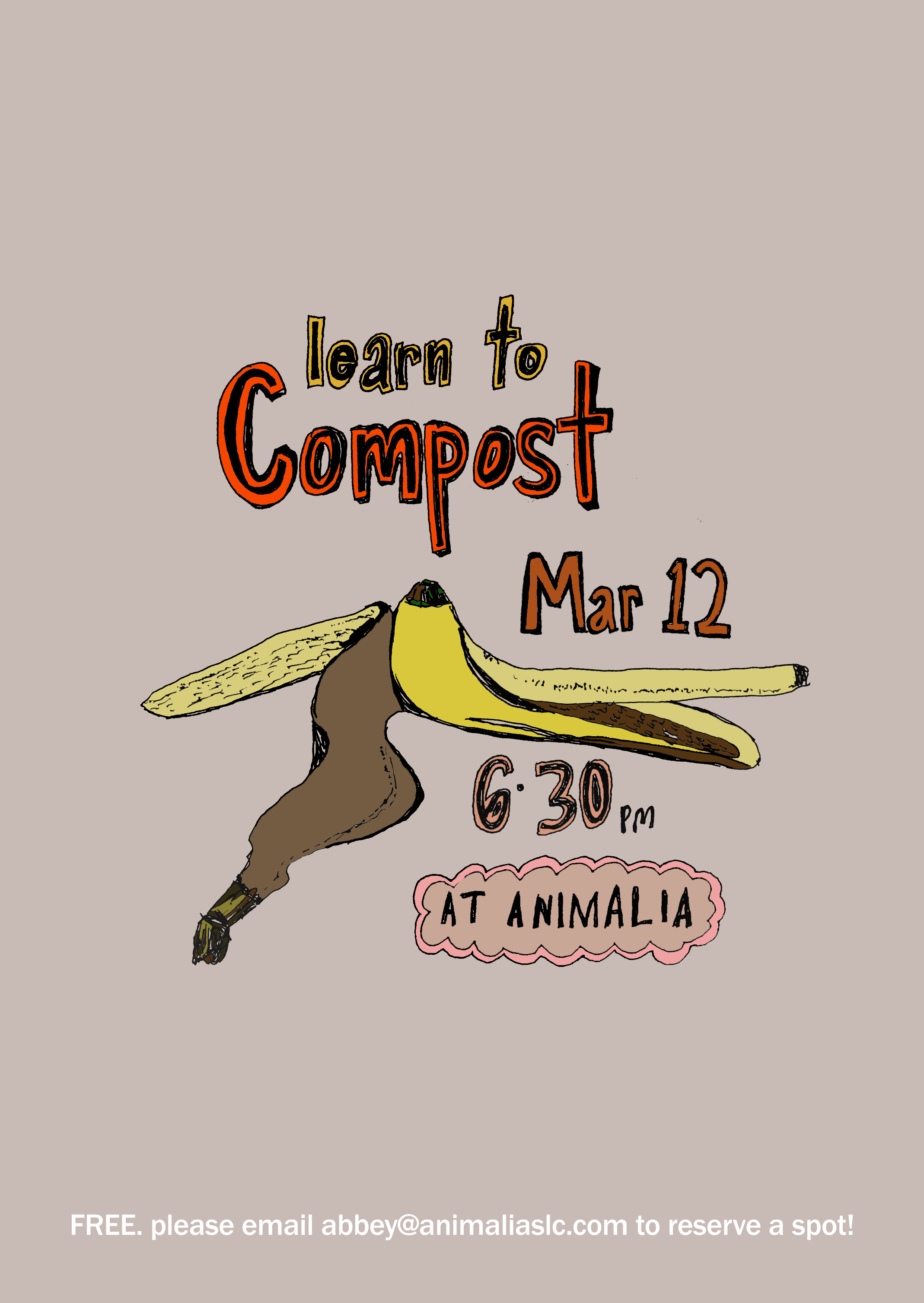 CLASS IS FULL! STAY TUNED FOR UPCOMING EVENTS BY FOLLOWING US ON INSTAGRAM @ANIMALIASHOPSLC