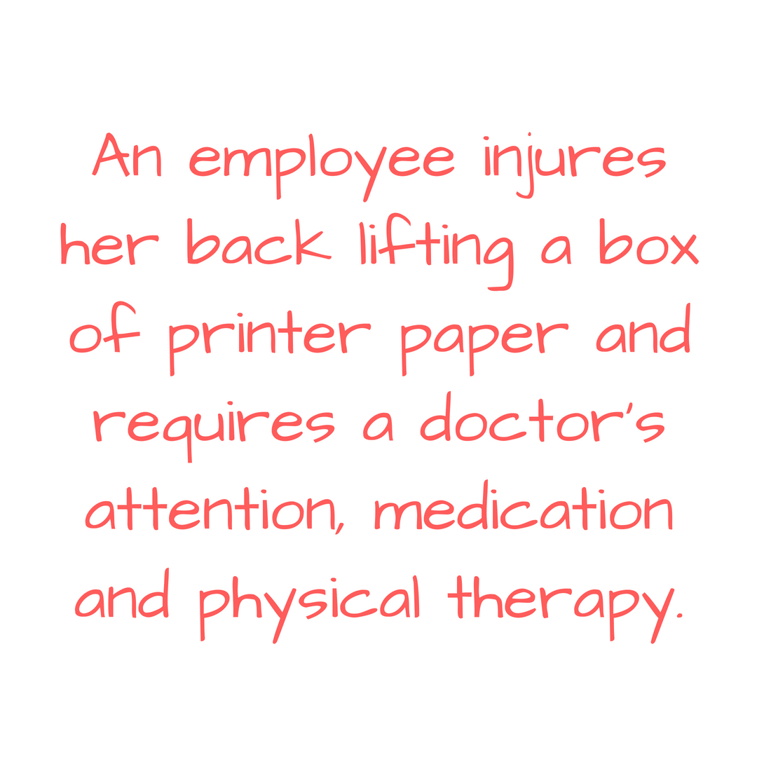 An employee slips on ice, injures himself while walking up the stairs to the office, and requires an emergency room visit and weeks of recovery time. (1).jpg