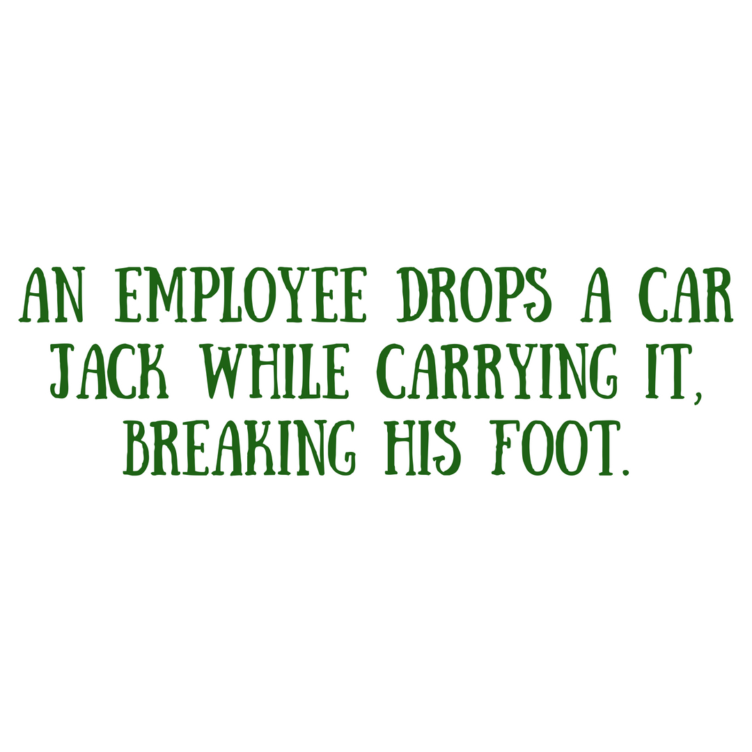 An employee slips on ice, injures himself while walking up the stairs to the office, and requires an emergency room visit and weeks of recovery time. (7).jpg