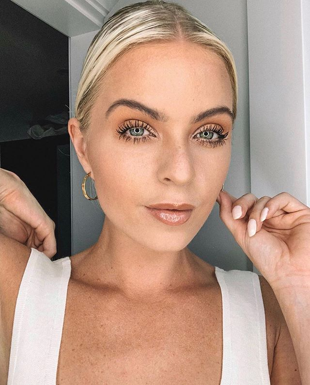 @hollymakeuploves wearing our classic hoops ✨ We are so excited for our next collection! It's filled with staple pieces to wear on the daily!
