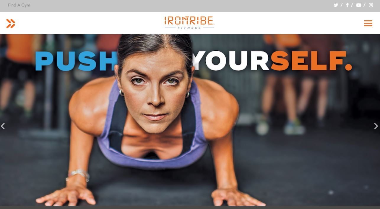Gym and Fitness StoryBrand Website Example : IronTribe