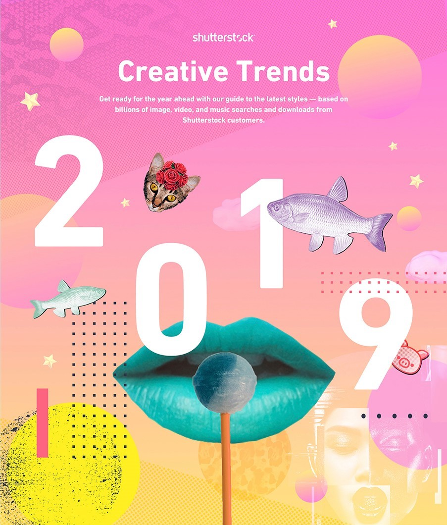 MAJOR TRENDS - Go retro: Top trends based on year - over - year search increases, echo the past in a playful wayby Shutterstock.