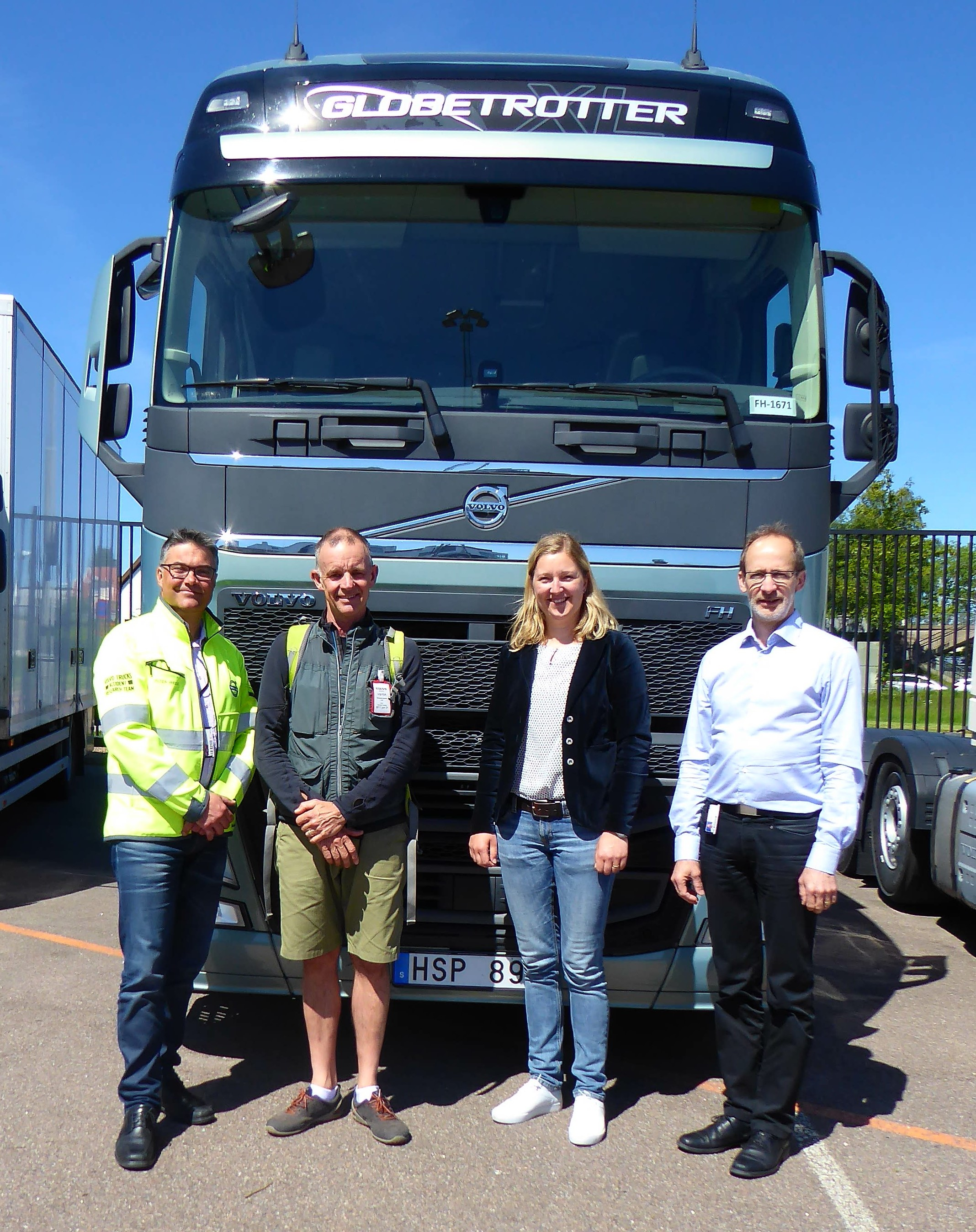 Left to right Peter Kronberg Director of Safety Richard Barter NZ Manager Share the Road Campaign Hanna Degerman the Ergonomics Feature Leader  Carl Johan Almqvist Traffic and Product Safety Director.jpg