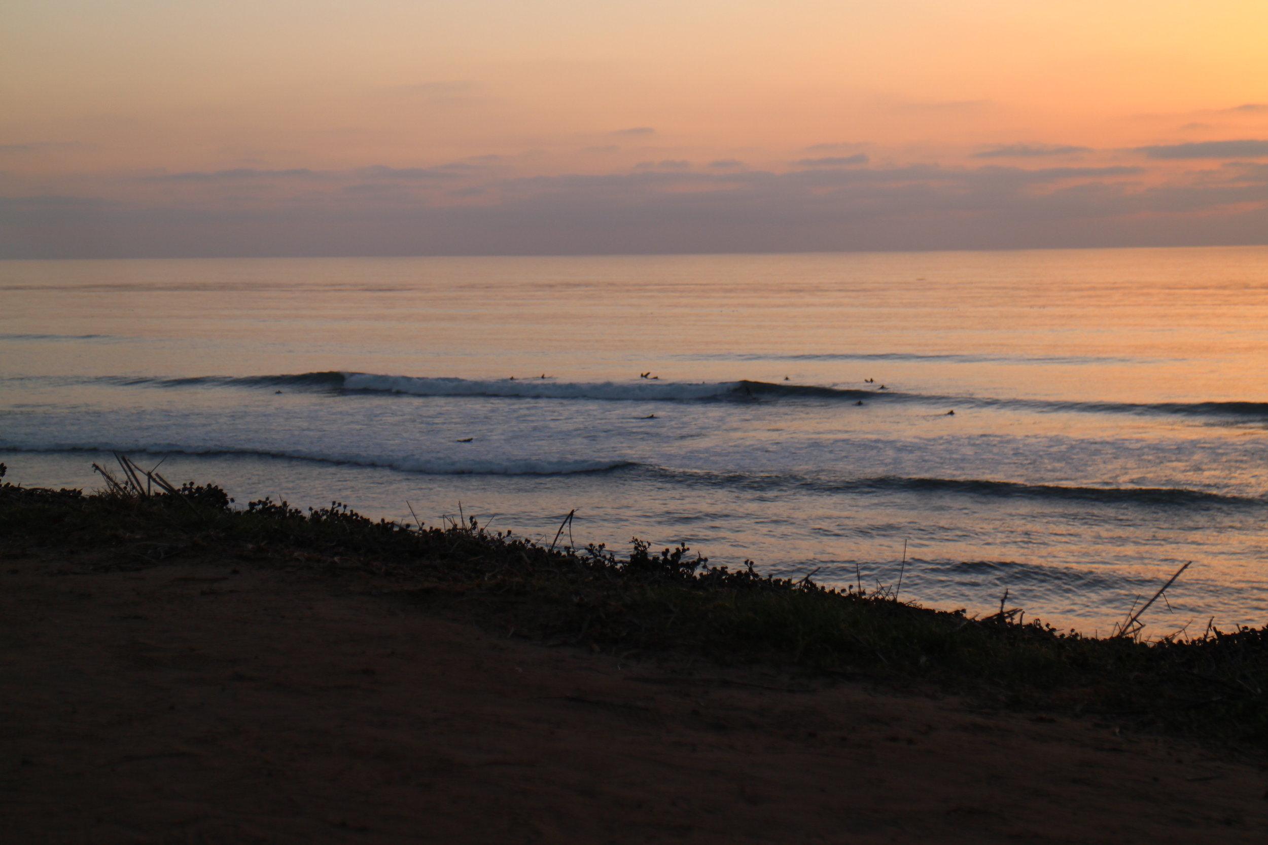 Sunset Cliffs are a popular surf spot.